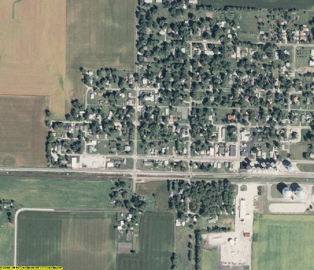 Macon County, IL aerial photography detail