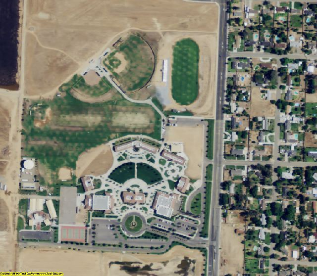 Madera County, CA aerial photography detail