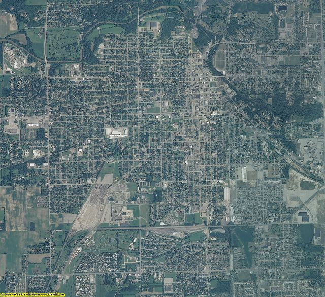 Madison County, Indiana aerial photography