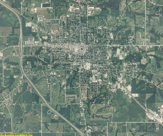 Mahaska County, Iowa aerial photography