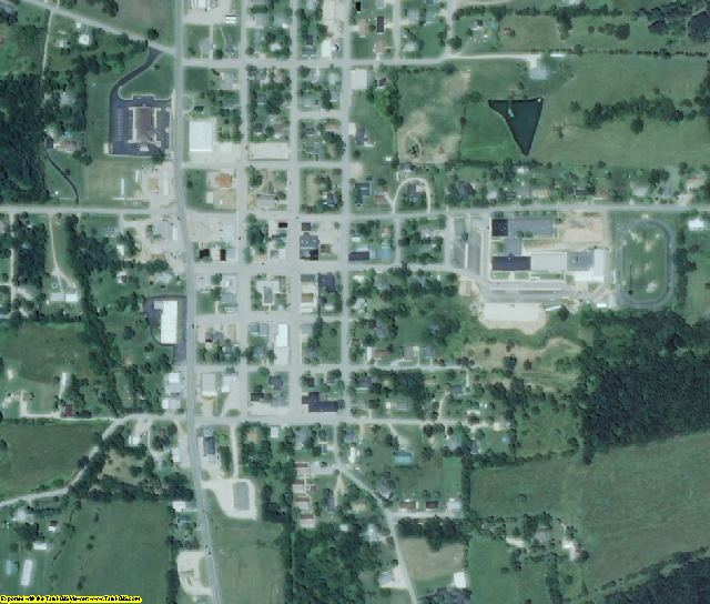 Maries County, MO aerial photography detail