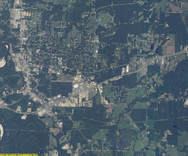 Marion County, Mississippi aerial photography