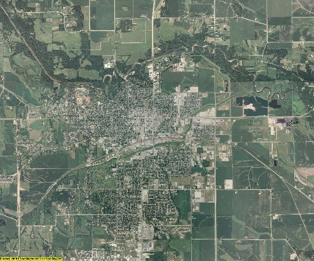Marshall County, Iowa aerial photography