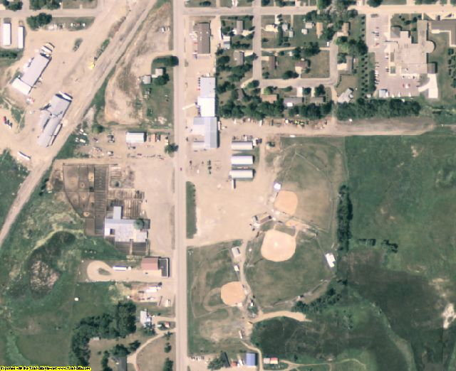 Marshall County, SD aerial photography detail