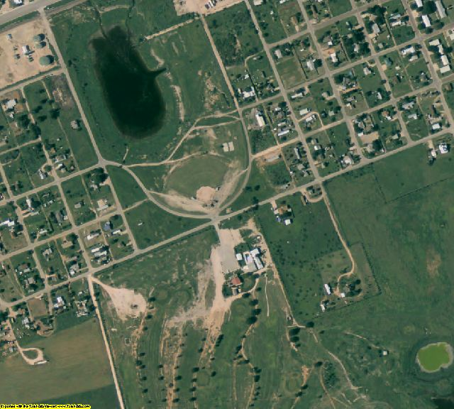 Martin County, TX aerial photography detail