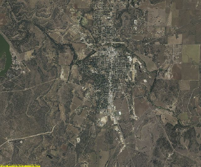 McCulloch County, Texas aerial photography