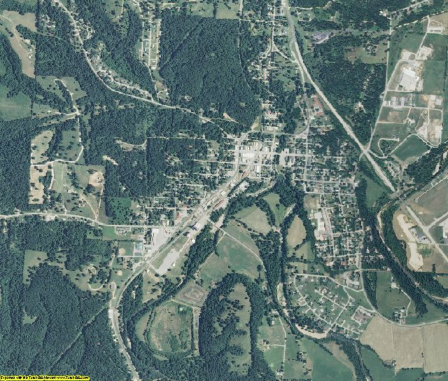 McDonald County, Missouri aerial photography