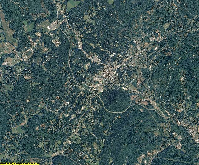 McDowell County, North Carolina aerial photography