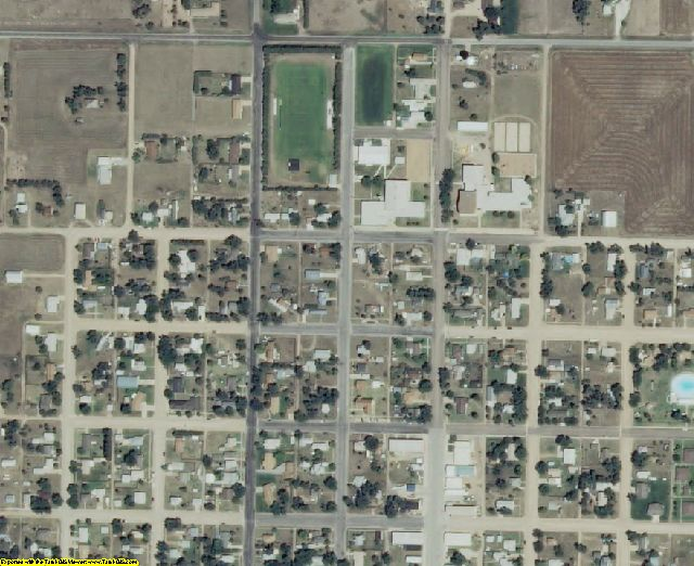 Meade County, KS aerial photography detail