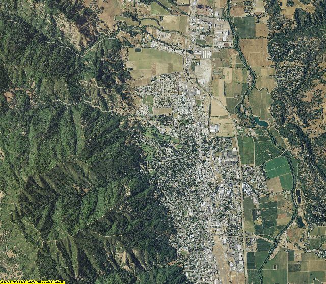 Mendocino County, California aerial photography