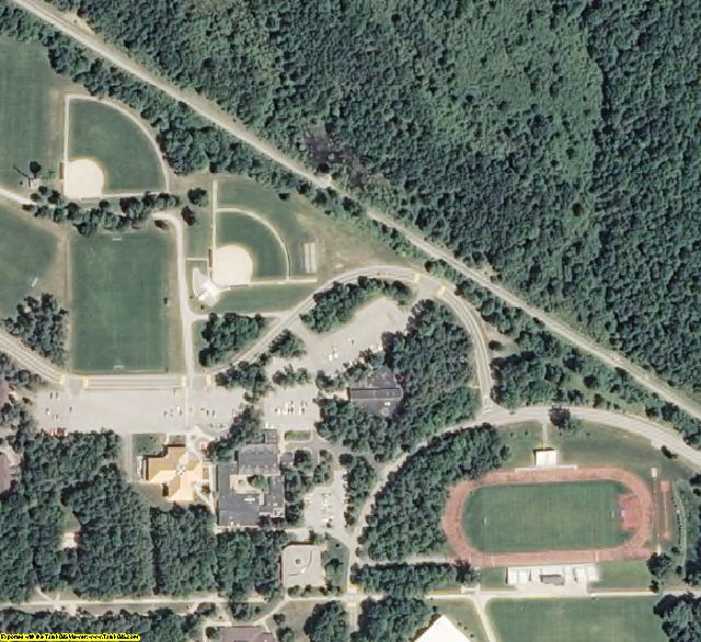 Midland County, MI aerial photography detail