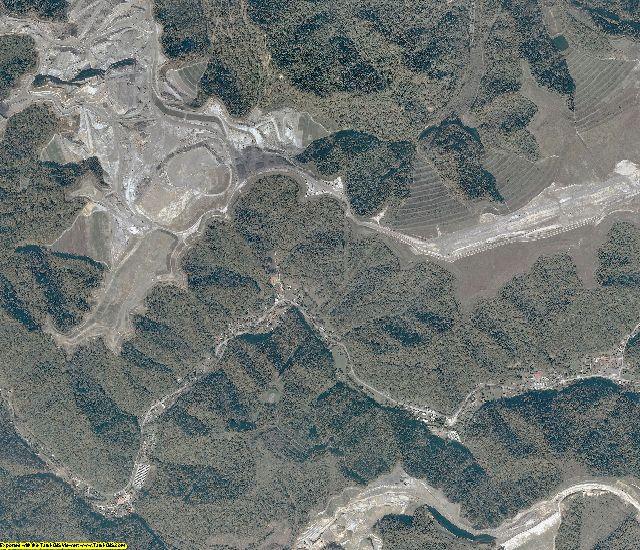 Mingo County, West Virginia aerial photography