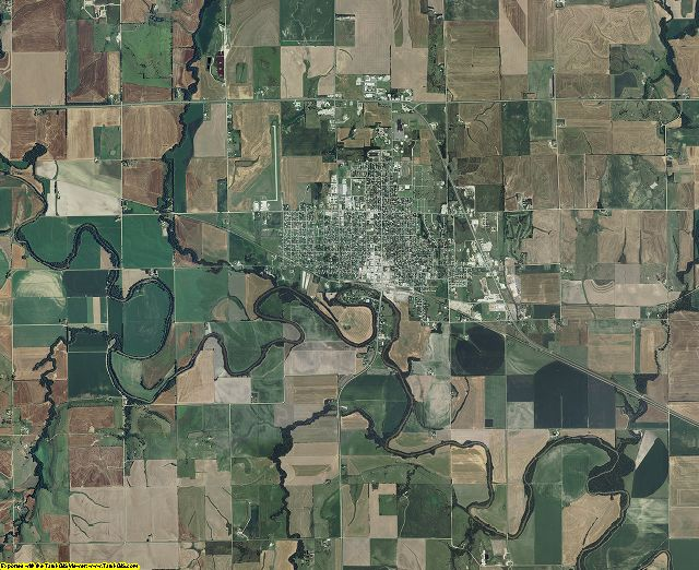 Mitchell County, Kansas aerial photography