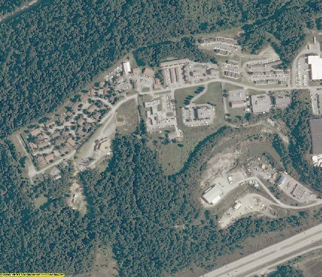 Monongalia County, WV aerial photography detail