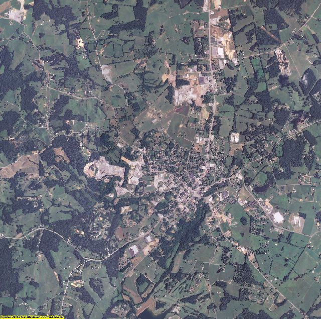 Monroe County, Kentucky aerial photography