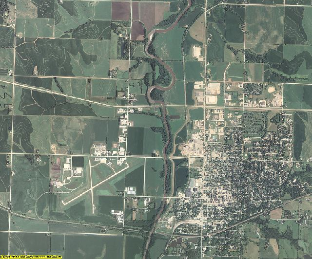 Montgomery County, Iowa aerial photography
