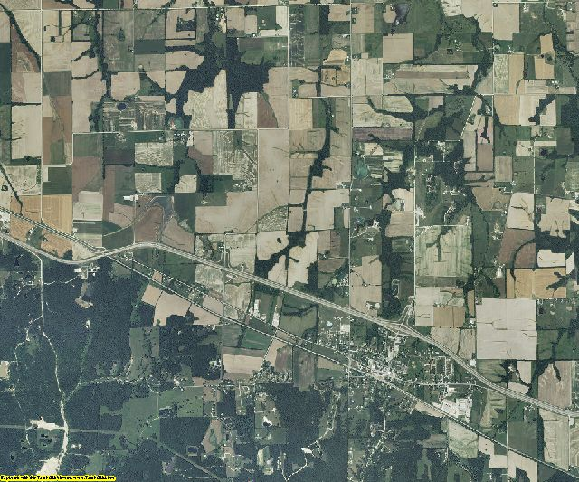 Montgomery County, Missouri aerial photography