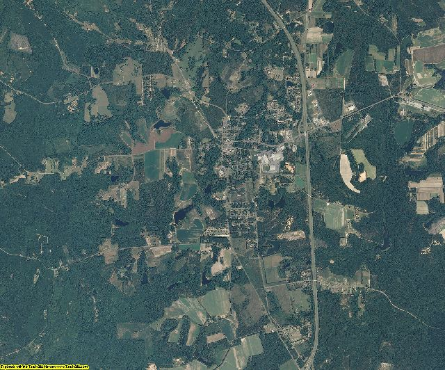 Montgomery County, North Carolina aerial photography