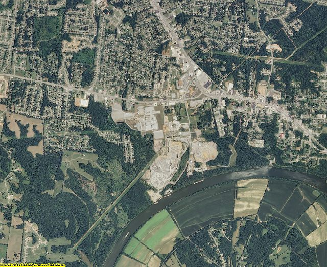 Montgomery County, Tennessee aerial photography