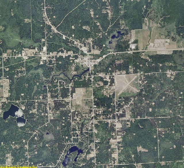 Montmorency County, Michigan aerial photography