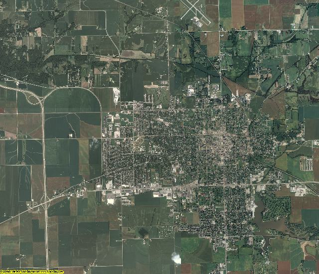 Morgan County, Illinois aerial photography