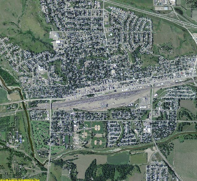 Morton County, North Dakota aerial photography