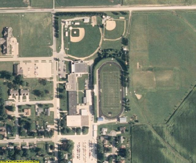 Muscatine County, IA aerial photography detail