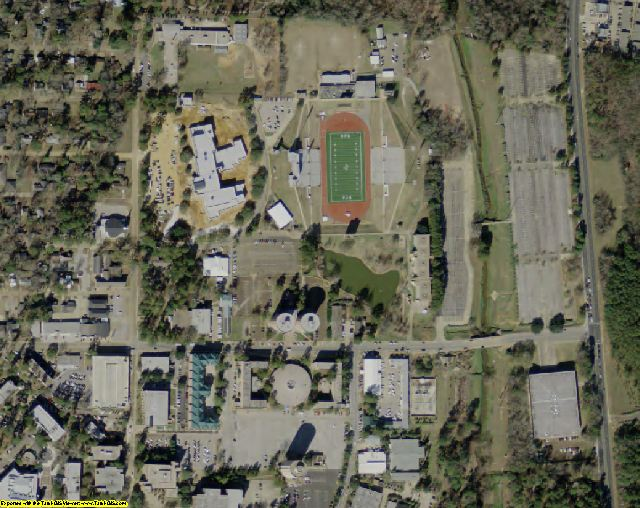 Nacogdoches County, TX aerial photography detail