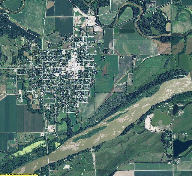 Nance County, Nebraska aerial photography