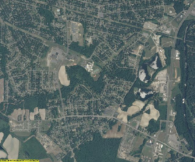 Nash County, North Carolina aerial photography