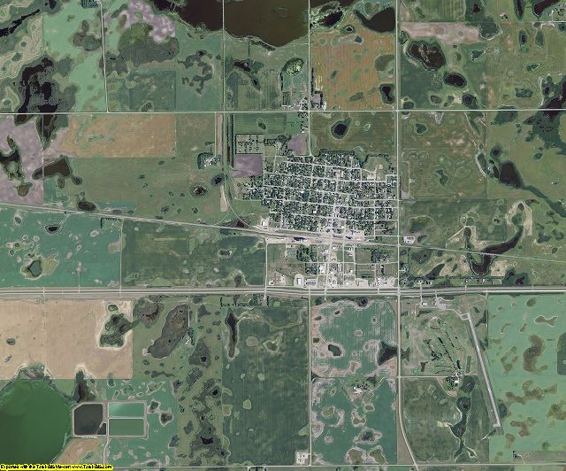 Nelson County, North Dakota aerial photography