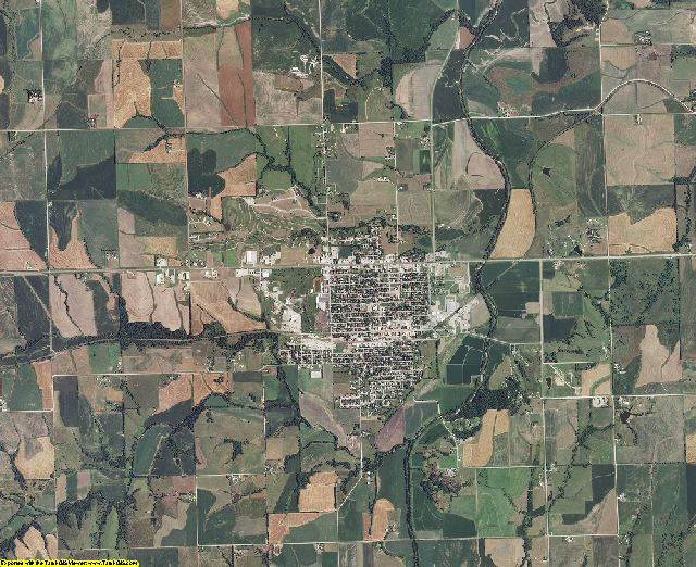 Nemaha County, Kansas aerial photography