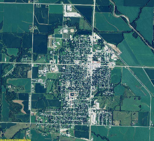 Nemaha County, Nebraska aerial photography