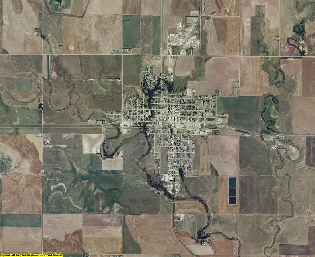 Ness County, Kansas aerial photography