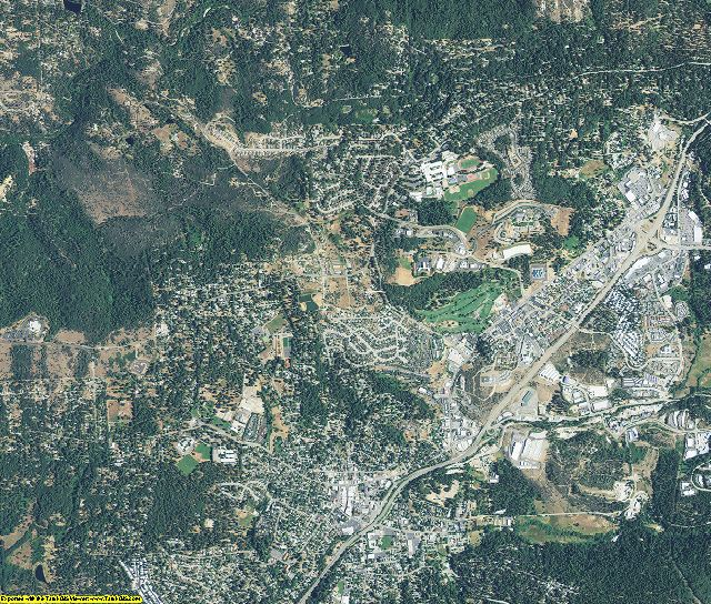 Nevada County, California aerial photography