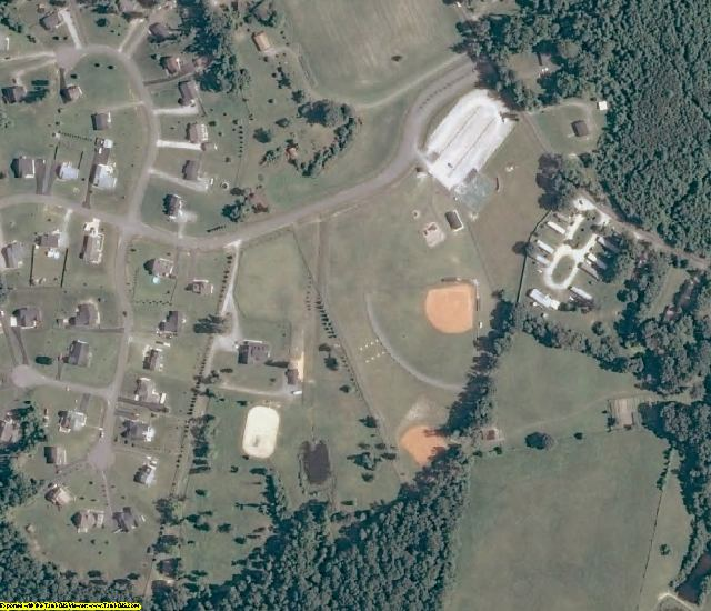 New Kent County, VA aerial photography detail