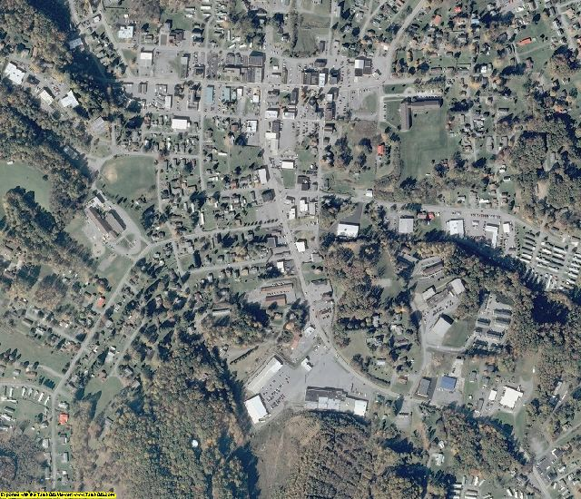Nicholas County, WV aerial photography detail