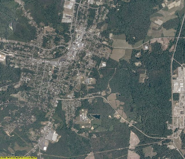 Nottoway County, Virginia aerial photography