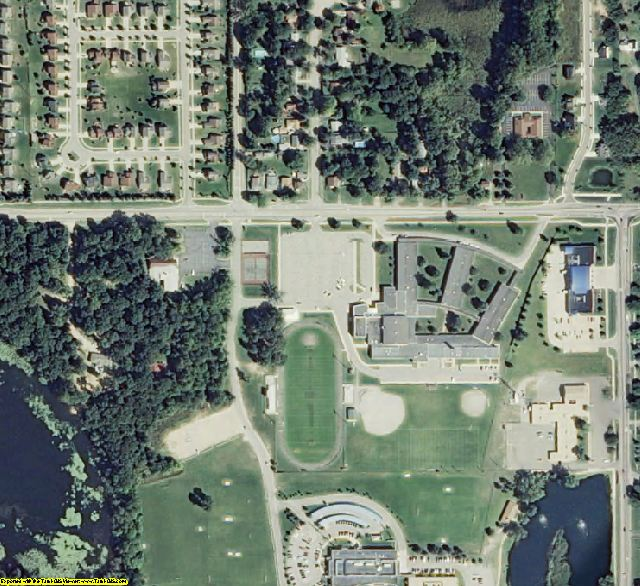 Oakland County, MI aerial photography detail