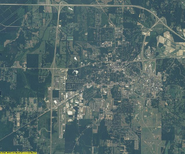 Oktibbeha County, Mississippi aerial photography