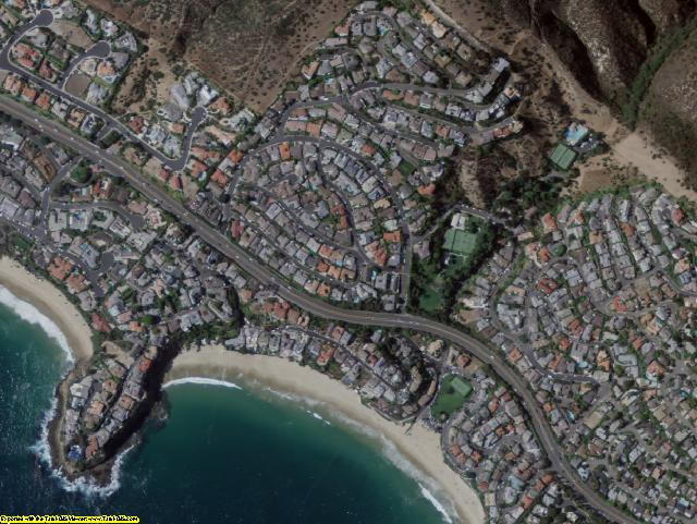 Orange County, CA aerial photography detail