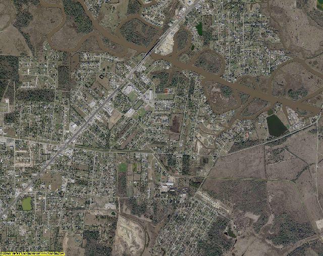 Orange County, Texas aerial photography