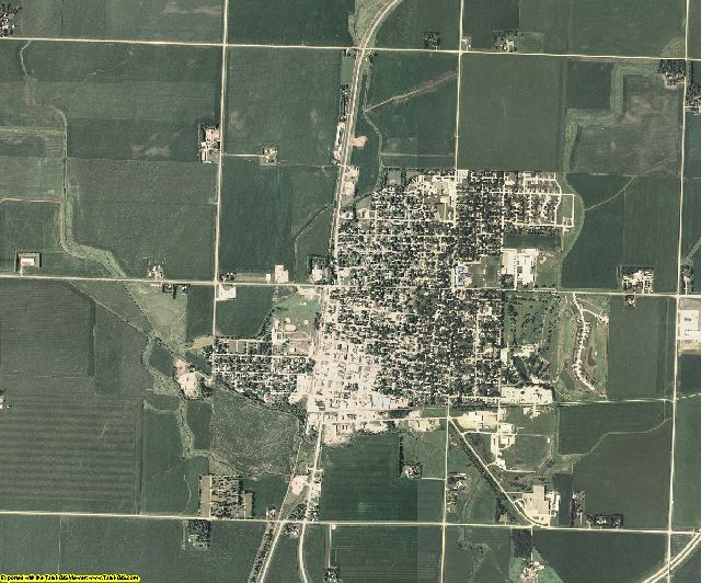 Osceola County, Iowa aerial photography