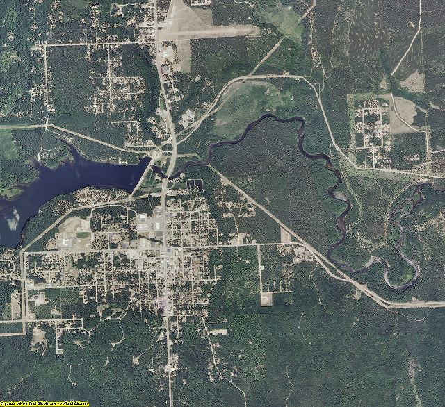 Oscoda County, Michigan aerial photography