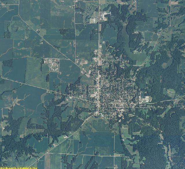 Parke County, Indiana aerial photography