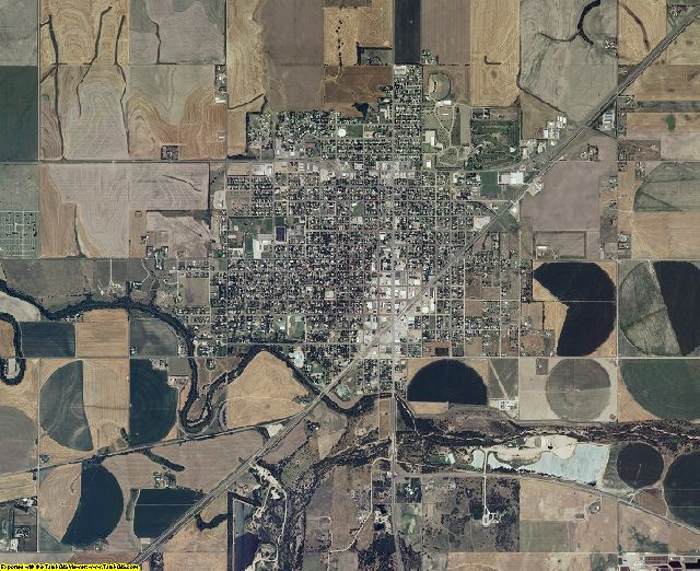 Pawnee County, Kansas aerial photography
