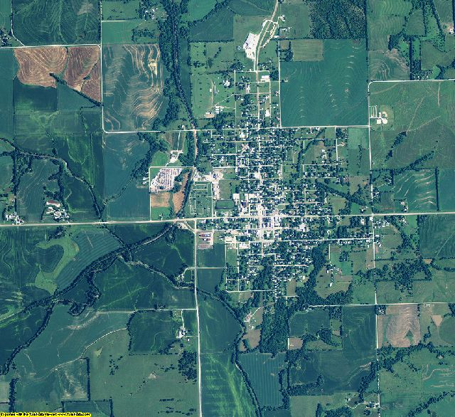 Pawnee County, Nebraska aerial photography