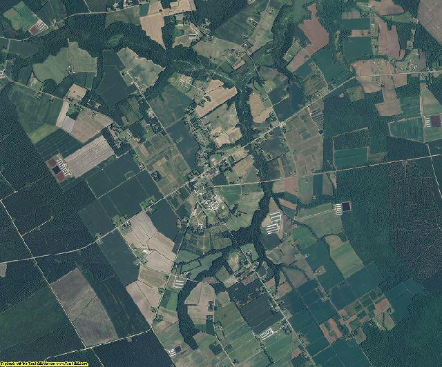 Pender County, North Carolina aerial photography