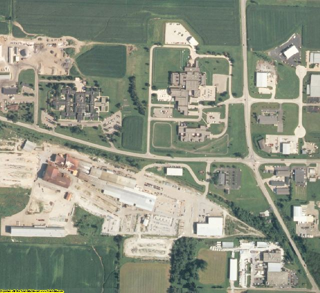 Peoria County, IL aerial photography detail