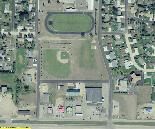 Pierce County, ND aerial photography detail